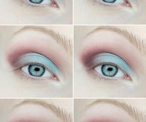make up, tutorial, and eyes image