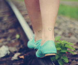 shoes, heart, and tattoo image