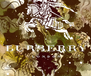 Burberry, illustration, and typography image