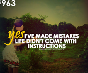 life, quote, and mistakes image