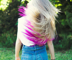 dip dye, girl, and hair image