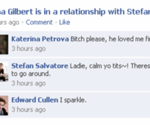 Vampire Diaries, edward cullen, and facebook image