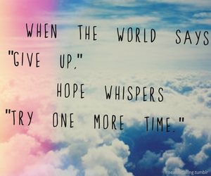 hope, quotes, and try image