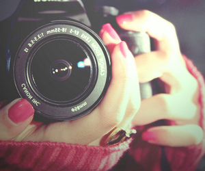 camera, photography, and pink image