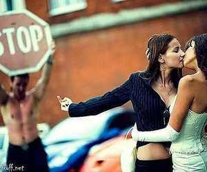 lesbian, stop, and kiss image
