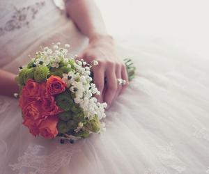 dress, flowers, and girls image