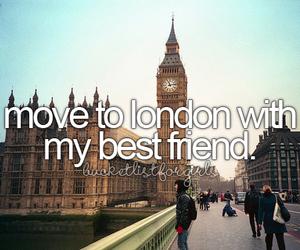 london, best friends, and friends image