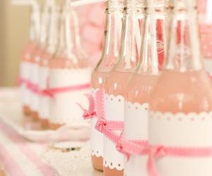 pink, drink, and bottles image