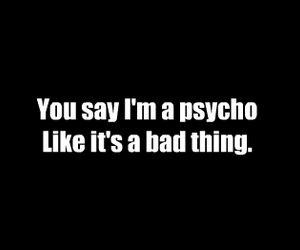 Psycho and text image
