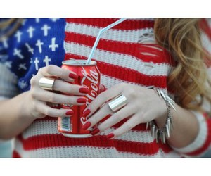 coca cola, fashion, and flag image