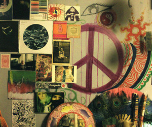 peace, hippie, and room image