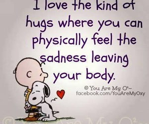 hug, snoopy, and quotes image
