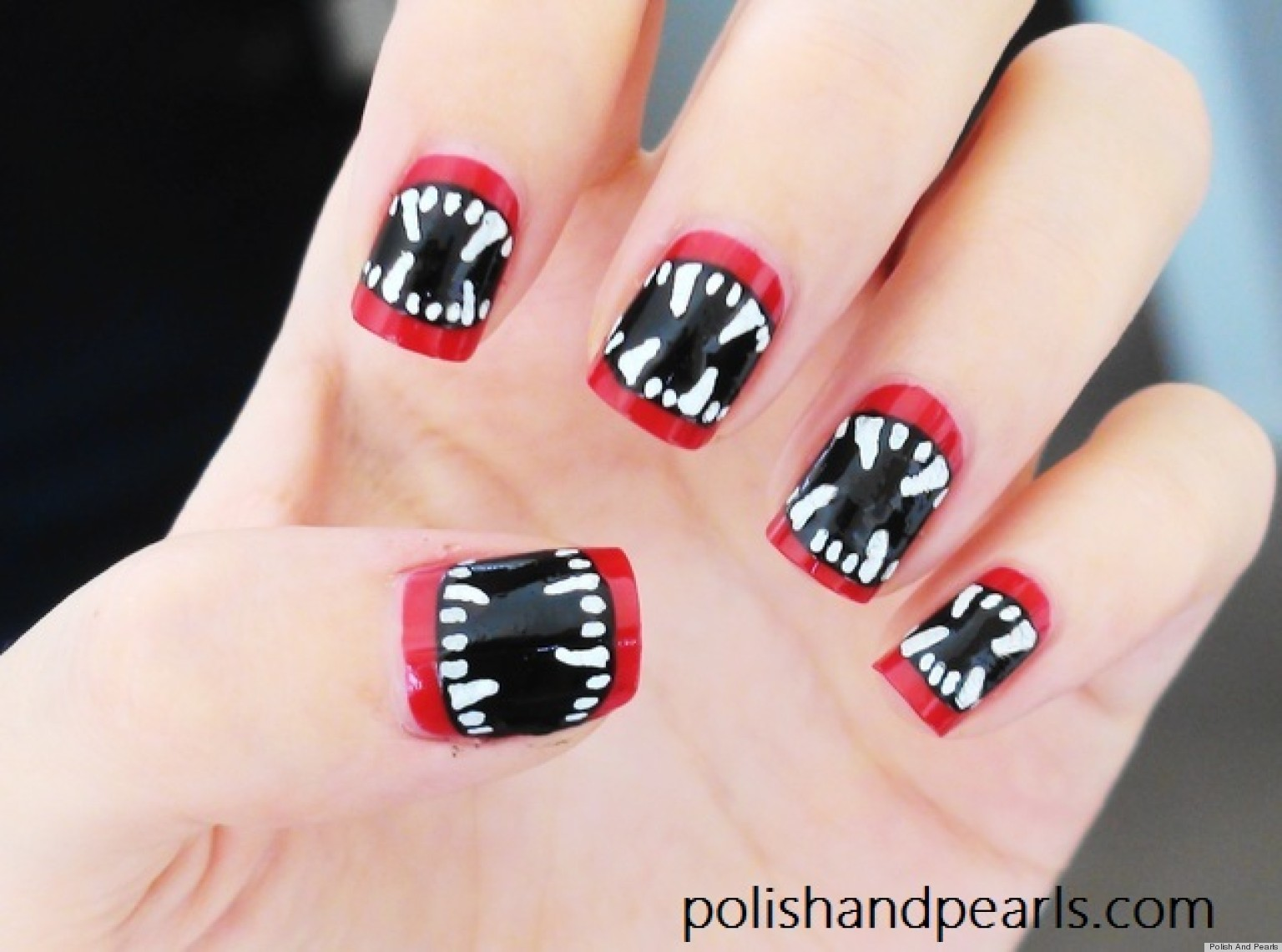 nail art the vampire diaries - Google Search on We Heart It