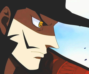 one piece and mihawk image