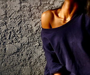 girl, skinny, and collarbones image