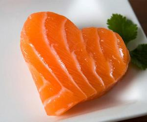 salmon, fish, and heart image