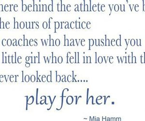 soccer, girl, and quote image
