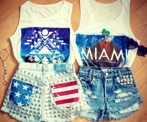 fashion, Miami, and outfit image