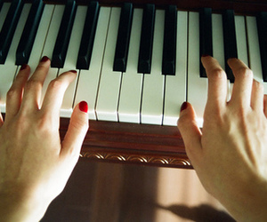 piano, music, and nails image