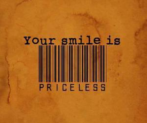 smile, priceless, and quote image
