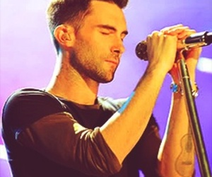 music, sing, and adam levine image
