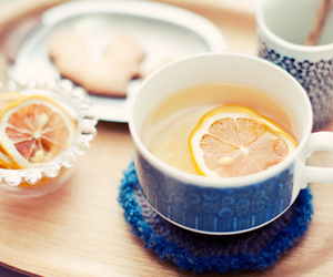tea, lemon, and drink image