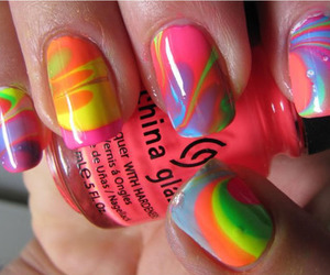 nails, rainbow, and nail polish image
