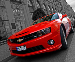 camaro, red, and car image
