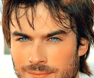 blue eyes, charm, and ian somerhalder image