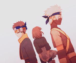 kakashi, naruto, and rin image