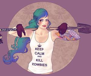 girl, keep calm, and kill image