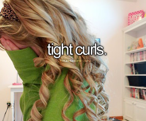 curls, hair, and blonde image