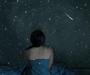 stars, girl, and shooting star image