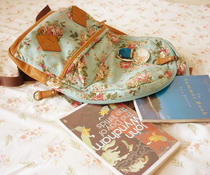 book, bag, and cute image