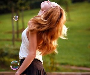 bubbles, girl, and life image