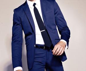 suit, men, and blue image