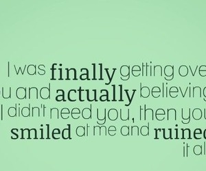 quote, him, and smile image