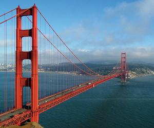 bridge, travel, and nature image