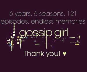gossip girl, thank you, and gg image