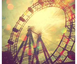 ferris wheel and vintage image