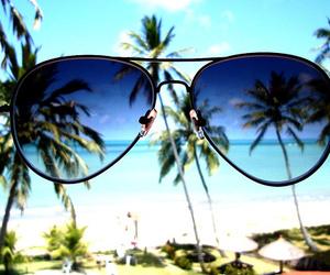 summer, beach, and sunglasses image