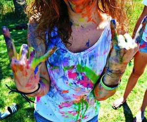 girl, color, and cool image