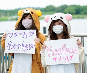 free hugs, japanese, and kawaii image