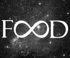 food, infinity, and galaxy image