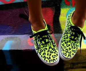 vans, neon, and shoes image