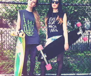 girls, skate, and swag image