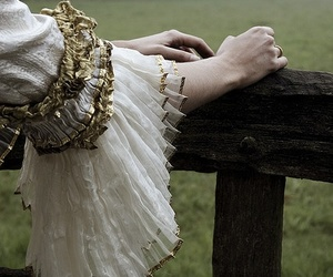 dress, gold, and hands image