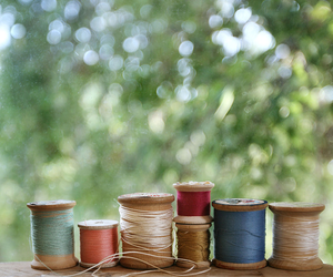 bokeh, thread, and spools image