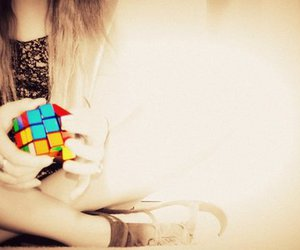 colorful, toy, and cube image