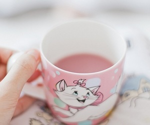 pink, cute, and cup image